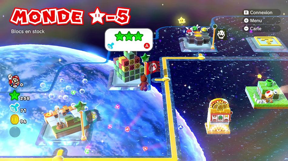 Soluce du Monde Étoile-5 : Blocs en stock de Super Mario 3D World