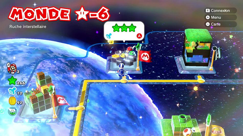 Soluce du Monde Étoile-6 : Ruche interstellaire de Super Mario 3D World