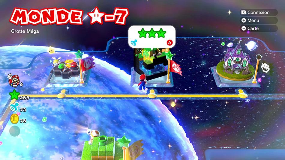 Soluce du Monde Étoile-7 : Grotte Méga de Super Mario 3D World