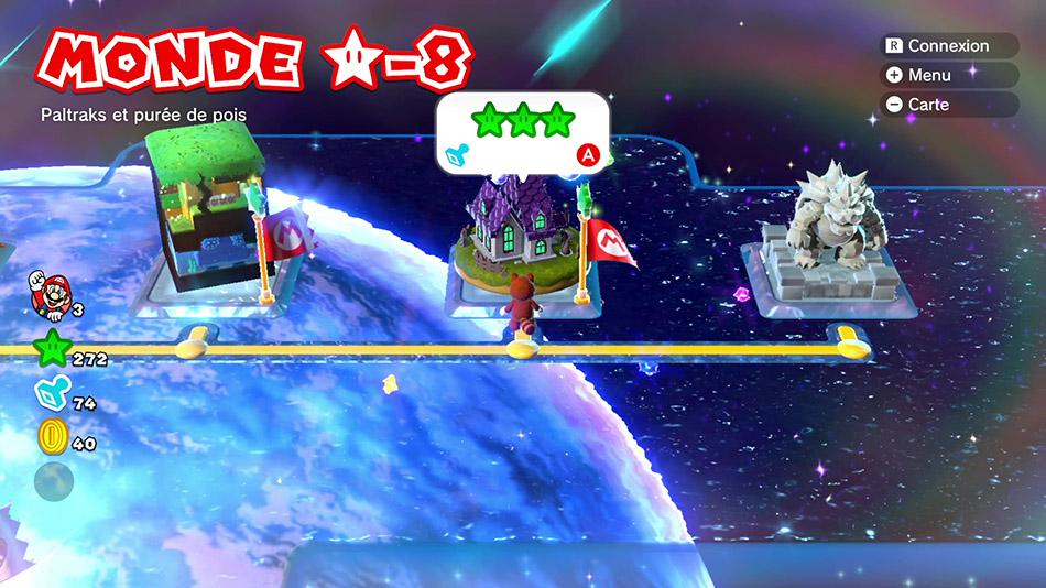 Soluce du Monde Étoile-8 : Paltrak et purée de pois de Super Mario 3D World