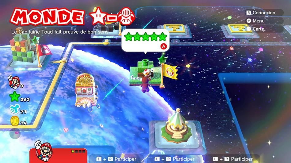 Soluce du Monde Étoile-Toad : Le capitaine Toad fait preuve de bon sens de Super Mario 3D World