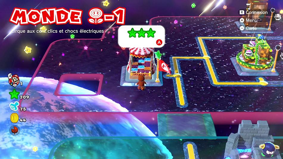 Soluce du Monde Fleur-1 : Cirque aux cent clics et chocs électriques de Super Mario 3D World
