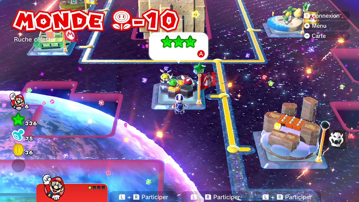 Soluce du Monde Fleur-10 : Ruche céleste de Super Mario 3D World