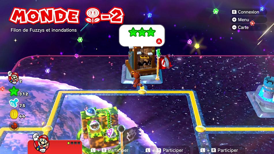 Soluce du Monde Fleur-2 : Filon de Fuzzy et inondations de Super Mario 3D World