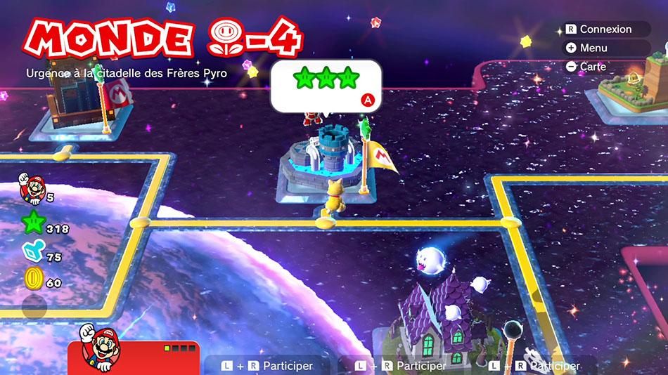 Soluce du Monde Fleur-4 : Urgence à la citadelle des Frères Pyro de Super Mario 3D World