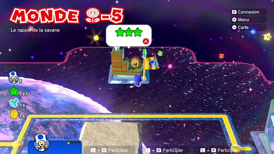 Soluce du Monde Fleur-5 : Le rappel de la savane de Super Mario 3D World