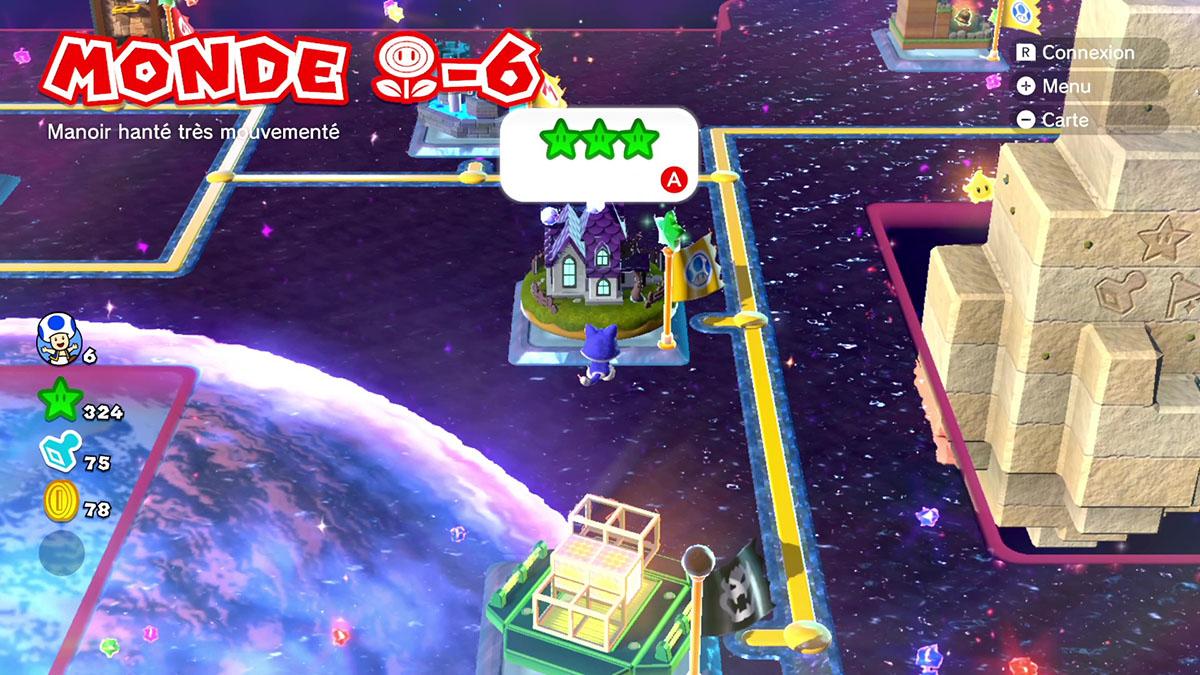 Soluce du Monde Fleur-6 : Manoir hanté très mouvementé de Super Mario 3D World
