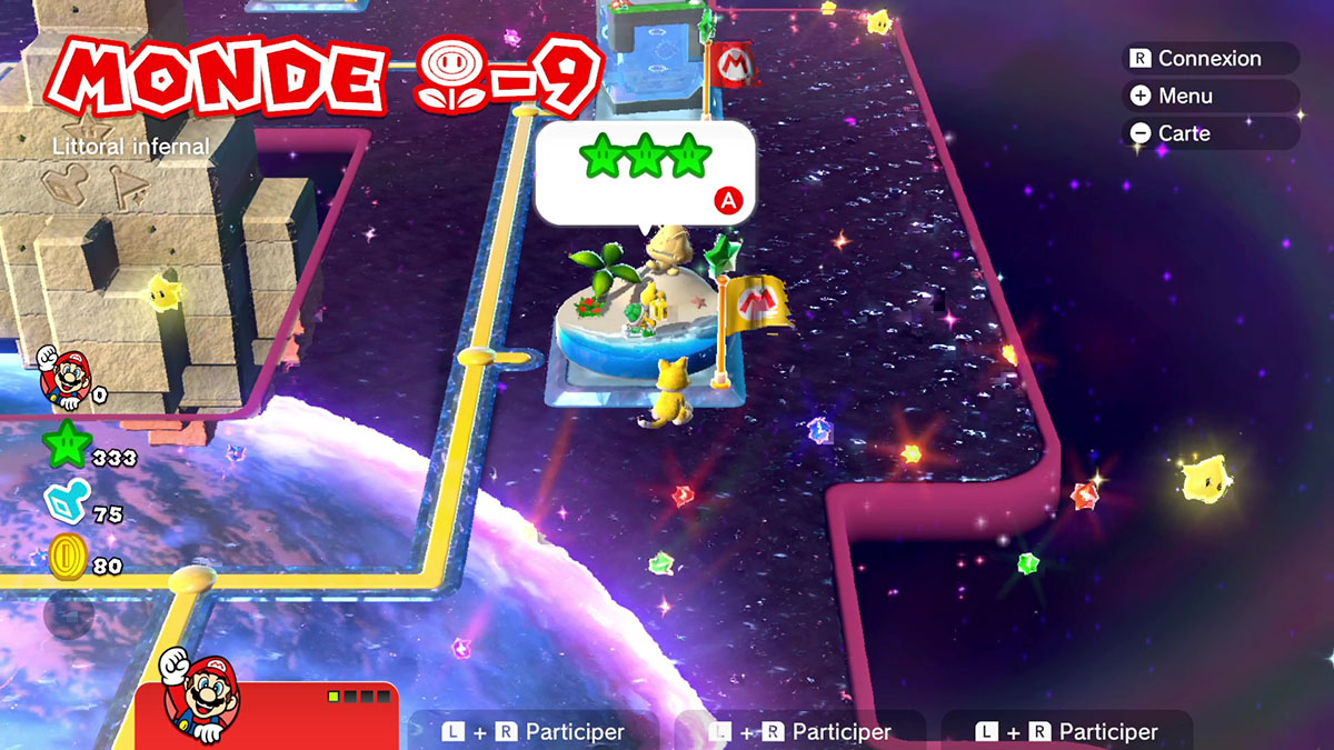 Soluce du Monde Fleur-9 : Littoral infernal de Super Mario 3D World