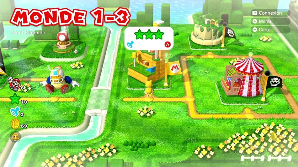 Soluce du Monde 1-3 : Mont Kiléraide de Super Mario 3D World