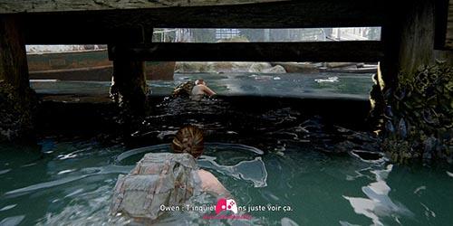 Suivre owen à la nage