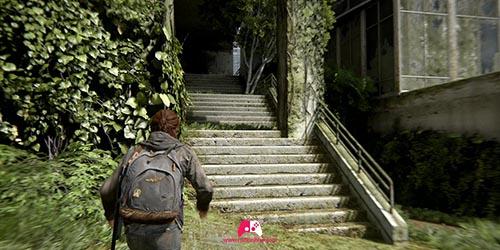 Escalier pour rejoindre la note