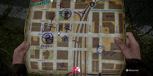 Carte du magasin de musique