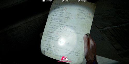 Artéfact Liste des provisions de l'hopital