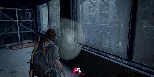 Briser la fenêtre de l'escalier
