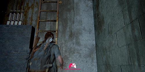 Echelle de la cage d'escalier
