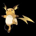 Raichu est de la famille de Pikachu